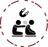 Séance mixte massage-magnétisme